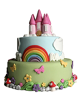 Rainbow Cakes Delicious Cakes Without Designer Price